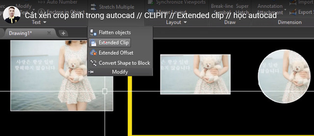 Cắt ảnh trong AutoCad bằng lệnh Extended Clip